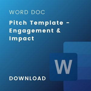 engagement impact template doc cover
