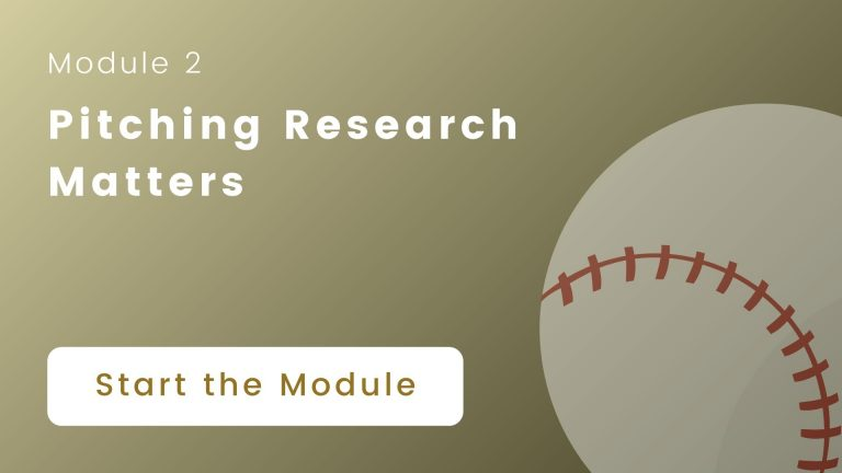 pitching research matters cover